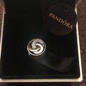 Pandora interlinked Circles Charm (used)